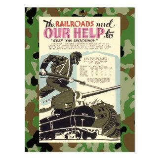 Railroads Need Our Help Postcard