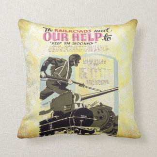 Railroads Need Our Help Throw Pillow