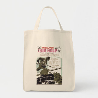 Railroads Need Our Help Tote Bag