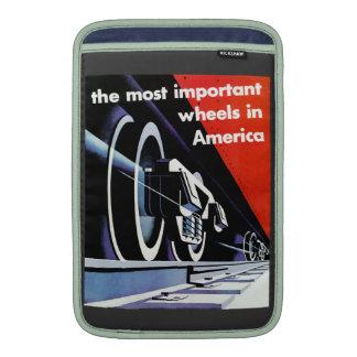Railroads-The Most Important Wheels in America MacBook Air Sleeve