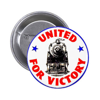 Railroads United For War Effort 1940 Button