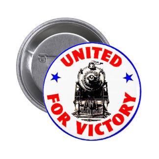 Railroads United For War Effort 1940 Button