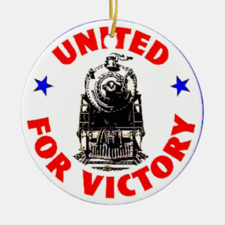 Railroads United For War Effort 1940 Ceramic Ornament