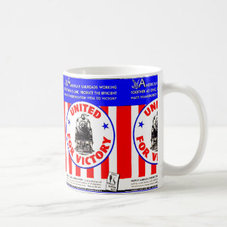 Railroads United For War Effort 1940 Coffee Mug