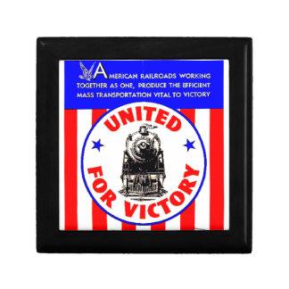 Railroads United For War Effort 1940 Keepsake Box