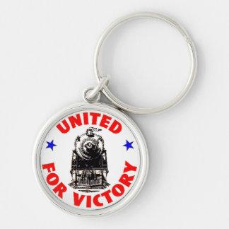 Railroads United For War Effort 1940 Keychain