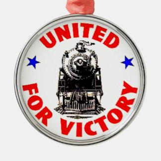Railroads United For War Effort 1940 Metal Ornament