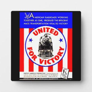 Railroads United For War Effort 1940 Plaque