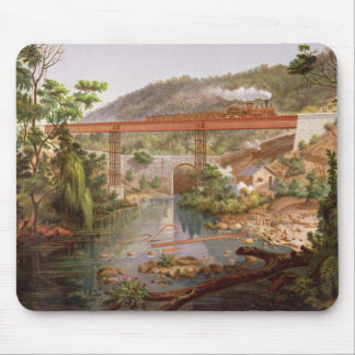 Railway Bridge at Atoyac, from 'Album of the Mexic Mouse Pad