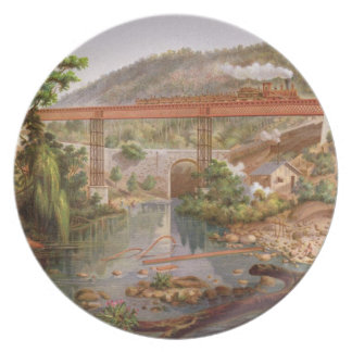 Railway Bridge at Atoyac, from 'Album of the Mexic Plate