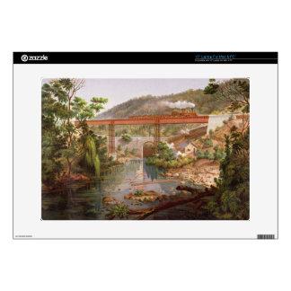 "Railway Bridge at Atoyac, from 'Album of the Mexic Skin For 15"" Laptop"