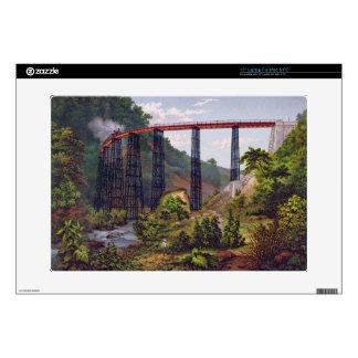 "Railway Bridge at Metlac, from 'Album of the Mexic 15"" Laptop Skins"