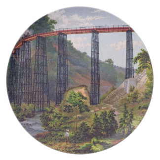 Railway Bridge at Metlac, from 'Album of the Mexic Party Plates