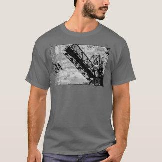 Railway Bridge Newspaper Photo Art T-Shirt