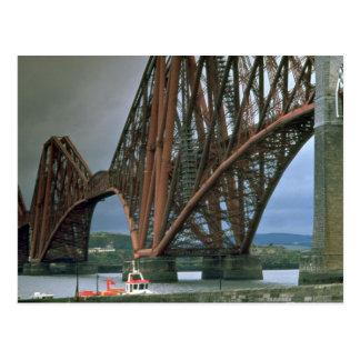 Railway bridge over the Firth of Forth near Edinbu Postcard