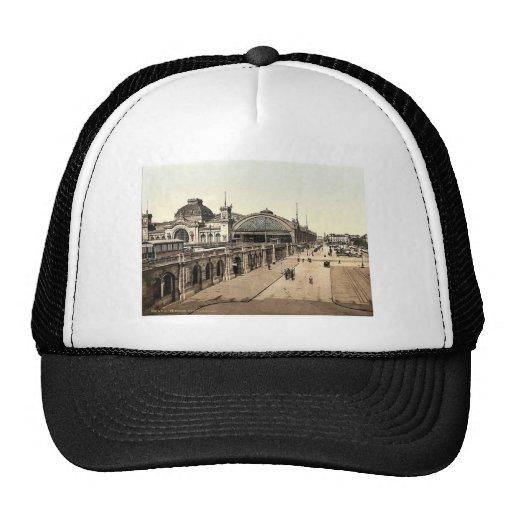 Railway buildings, Altstadt, Dreseden, Saxony, Ger Mesh Hat