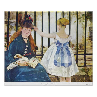 Railway by Edouard Manet Poster