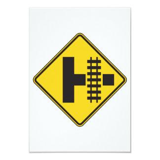 Railway Crossing Road Sign Invitations