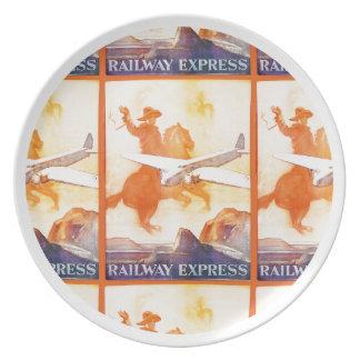 Railway Express Agency 1935 Melamine Plate
