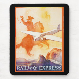 Railway Express Agency 1935 Mouse Pad