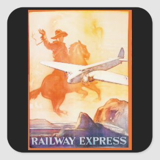 Railway Express Agency 1935 Square Stickers Square Sticker