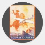 Railway Express Agency 1935 Sticker Round Sticker