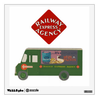 Railway Express Agency Delivery Truck Wall Decal