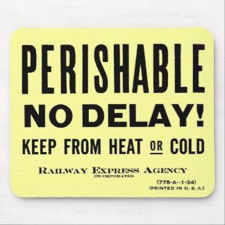 Railway Express Agency - Perishable - Mouse Pad