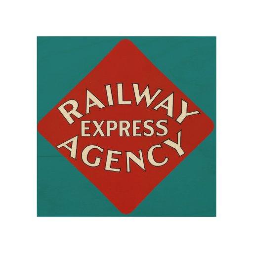 Railway express agency wood wall decor zazzle for Decor express