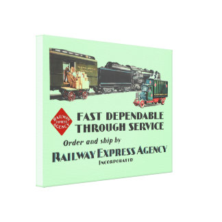 Railway Express Fast Dependable Service Canvas Print