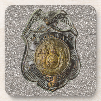 Railway Express Police Badge Coaster