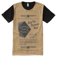 Railway Express; Ship The Railroad Way All-Over-Print Shirt
