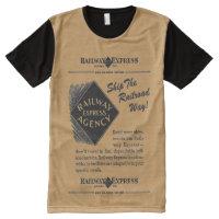 Railway Express; Ship The Railroad Way All-Over-Print Shirt