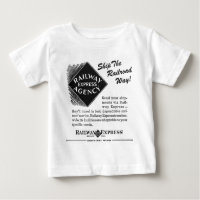 Railway Express; Ship The Railroad Way Baby T-Shirt