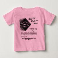 Railway Express; Ship The Railroad Way Baby T-Shirt
