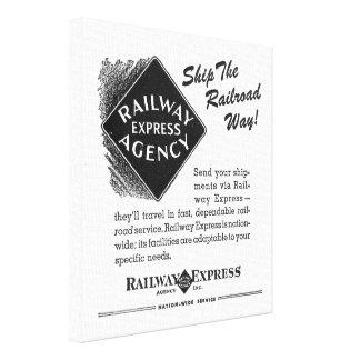 Railway Express; Ship The Railroad Way Canvas Print