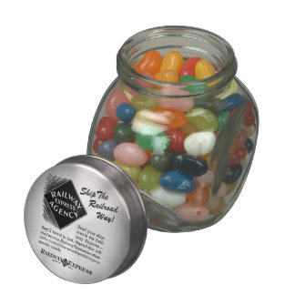 Railway Express; Ship The Railroad Way Glass Candy Jars