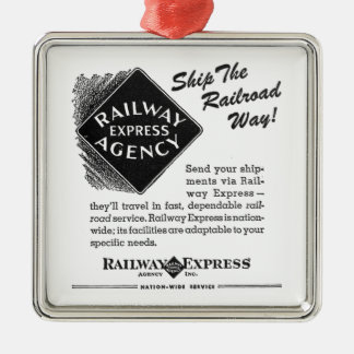 Railway Express; Ship The Railroad Way Ornament