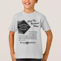 Railway Express - Ship The Railroad Way T-Shirt