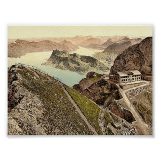 Railway, from Oberhaupt, towards Lake of Four Cant Print