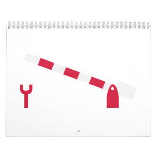 Railway gate calendar