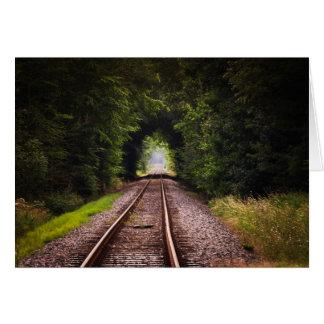 Railway green beautiful scenery greeting card