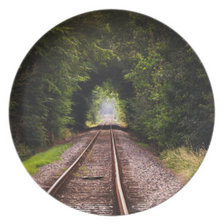 Railway green beautiful scenery dinner plate