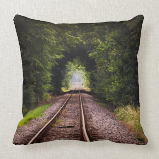 Railway green beautiful scenery throw pillow