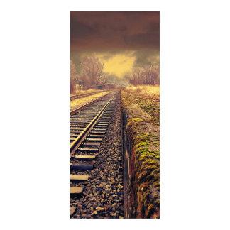 "Railway 4"" X 9.25"" Invitation Card"