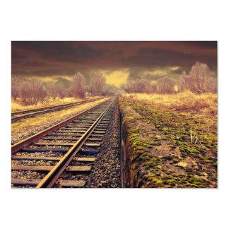 "Railway 5"" X 7"" Invitation Card"