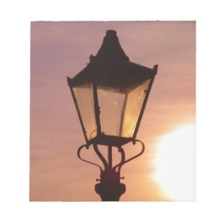 RAILWAY LANTERN SUNSET Notepad