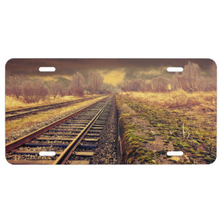 Railway License Plate