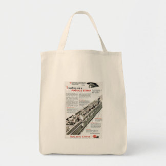 Railway Mail on the New York Central Railroad 1943 Grocery Tote Bag