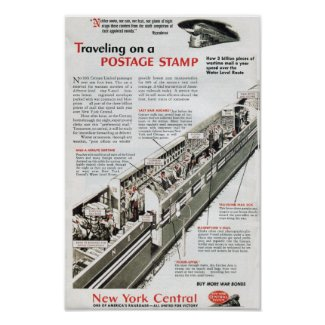 Railway Mail on the New York Central Railroad 1943 print